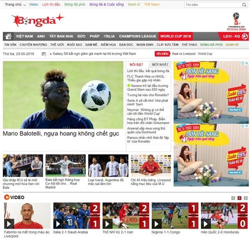 Đọc báo bóng đá trên trang web nào uy tín nhất Việt Nam