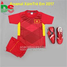 Áo bóng đá Việt nam đỏ trẻ em năm 2017-2018