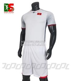 Áo Bóng Đá Đội Tuyển Việt Nam 2018 màu trắng