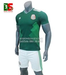 Áo Bóng Đá Mexico Xanh 2017-2018
