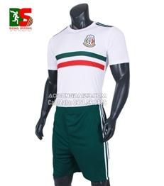Áo Bóng Đá Đội Tuyển Mexico Trắng 2017-2018