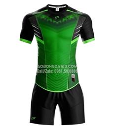 Áo bóng đá không logo Monster 2019 màu xanh lá