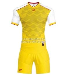 Áo bóng đá không logo Fancy 2018 màu vàng