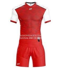 Áo bóng đá không logo Fancy 2018 màu đỏ