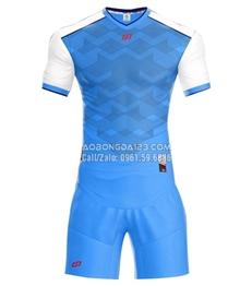 Áo bóng đá không logo Fancy 2018 màu biển