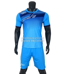 Áo bóng đá không logo T90 2018 màu xanh da