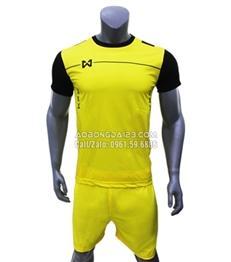 Áo Bóng Đá Không Logo Abata Warrix 2018 Màu Vàng
