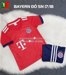 Áo bóng đá trẻ em Bayern Munich đỏ sân nhà 2018-2019