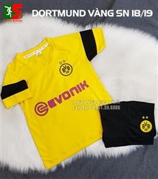 Áo bóng đá trẻ em Dortmund vàng sân nhà 2018