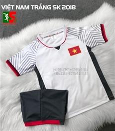 Áo bóng đá trẻ em Việt Nam trắng sân khách 2018