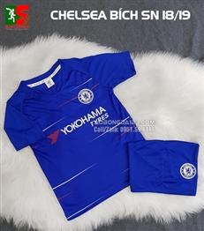 Áo bóng đá trẻ em Chelsea xanh sân nhà 2018-2019
