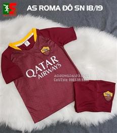 Áo bóng đá trẻ em Roma mận sân nhà 2018-2019