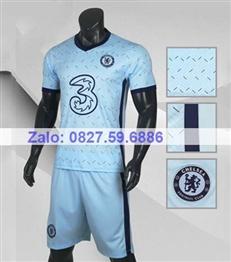Bộ quần áo bóng đá CP CHELSEA xanh biển 2020 -2021