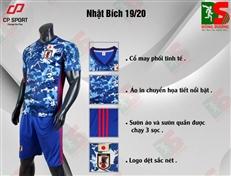 Bộ quần áo bóng đá CP Nhật xanh bích
