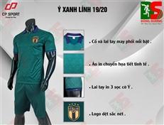 Bộ quần áo bóng đá CP Ý xanh lính