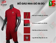 Bộ quần áo bóng đá CP Bồ Đào Nha đỏ