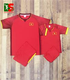 Áo bóng đá trẻ em Việt Nam đỏ sân nhà 2018