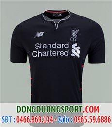 Áo Bóng Đá Liverpool đen sân khách 2017
