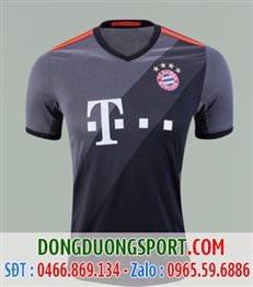 Áo Bóng Đá Bayern 2017 màu xám mẫu 3