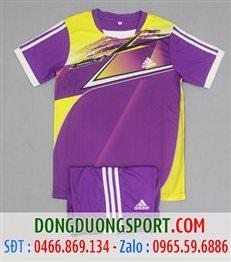 Áo Bóng Đá Không Logo Adidas Màu Tím