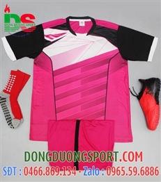 Áo bóng đá không logo màu hồng 2017