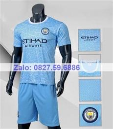 Bộ quần áo bóng đá CP MANCITY xanh biển 2020 -2021