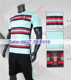 Bộ quần áo bóng đá CP Bồ Đào Nha xanh ngọc 2020-2021