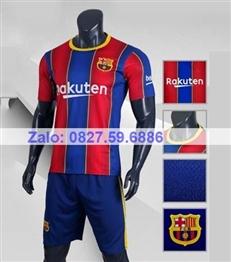 Bộ quần áo bóng đá CP BARCA sọc sân nhà 2020-2021