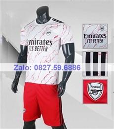Bộ quần áo bóng đá CP ARSENAL trắng 2020-2021