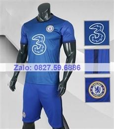 Bộ quần áo bóng đá CP CHELSEA Xanh bích 2020 -2021
