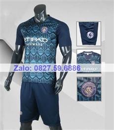 Bộ quần áo bóng đá CP Mancity xanh dương 2020 -2021