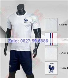 Bộ quần áo bóng đá CP Pháp trắng 2020-2021