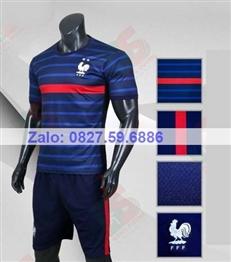 Bộ quần áo bóng đá CP Pháp xanh dương 2020-2021