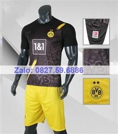 Bộ quần áo bóng đá CP Dortmund đen 2020 -2021