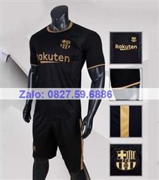 Bộ quần áo bóng đá CP Barca đen 2020-2021