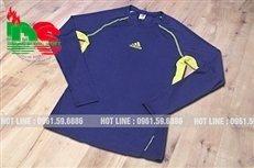 Áo lót body bóng đá dài tay xanh dương