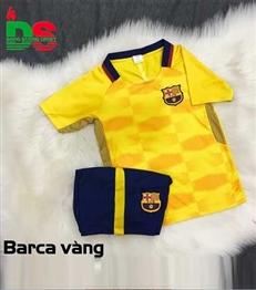 Áo bóng đá trẻ em Barca vàng training