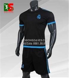 Áo Bóng Đá Real Madrid Training C1 2018 màu đen