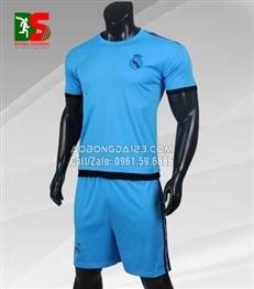 Áo Bóng Đá Real Madrid training C1 2018 màu xanh ngọc