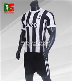 Áo Bóng Đá Juventus sọc trắng đen sân nhà 2017 - 2018