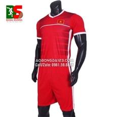 Áo Bóng Đá Đội Tuyển Việt Nam Training 2018 màu đỏ