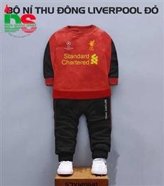 Bộ nỉ cao cấp trẻ em CLB Liverpool đỏ