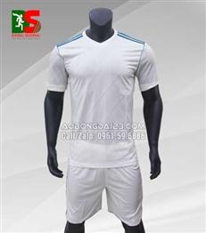 Áo bóng đá không logo SF Real trắng 2017-2018