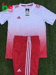 Áo bóng đá không logo All Black 2017 trắng đỏ