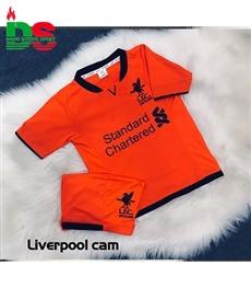 Áo bóng đá trẻ em Liverpool cam