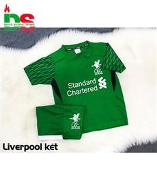 Áo bóng đá trẻ em Liverpool xanh lục