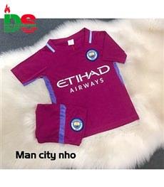 Áo bóng đá trẻ em Man City màu nho