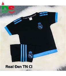 Áo bóng đá trẻ em Real đen Training C1
