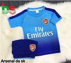 Áo bóng đá trẻ em Arsenal xanh ngọc