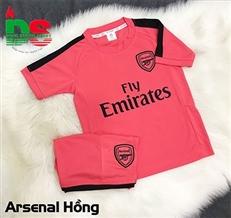 Áo bóng đá trẻ em Arsenal hồng